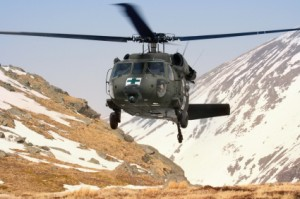 Military Blackhawk Medical Mountain Rescue